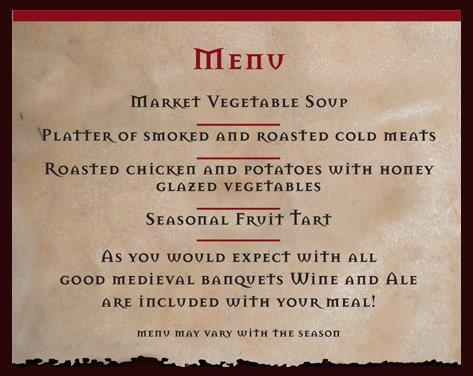 Ancient Roman Food Menu