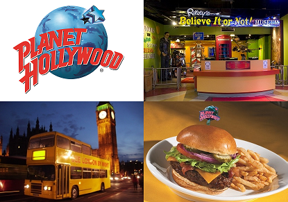 Planet Hollywood, Ripley's Believe It or Not! and See London By Night